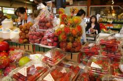 Strawberries and lychee at Granville Island Market.jpg