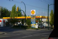 Shell Gas station on Hastings St in Burnaby Vancouver area Canada.jpg